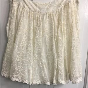 Free People med ivory lace Skirt